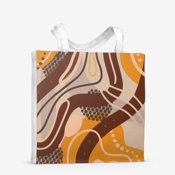 Сумка-шоппер «Современный модный абстрактный узор. Бохо стиль. Пятна, овалы, круги, разводы»