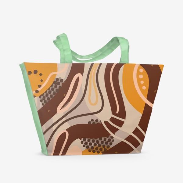 Пляжная сумка «Современный модный абстрактный узор. Бохо стиль. Пятна, овалы, круги, разводы»