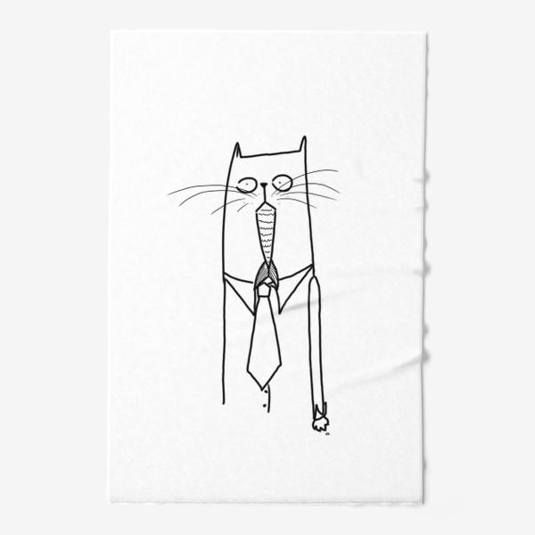 Полотенце «Деловой кот при галстуке»