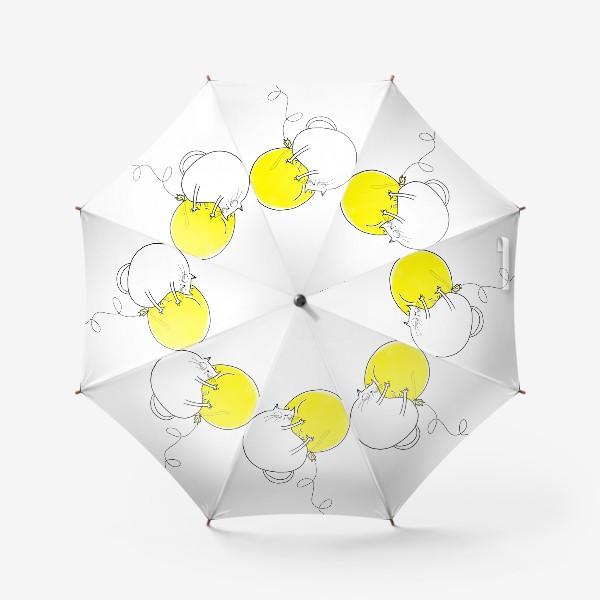Зонт «Кот на желтом воздушном шаре»