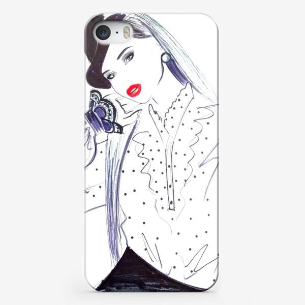 Чехол iPhone «Модная девушка»