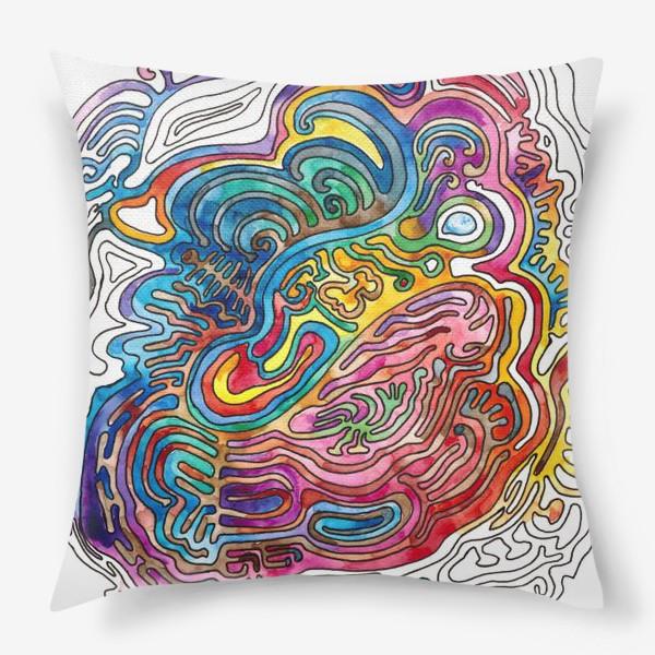 Подушка «Watercolor Doodle»
