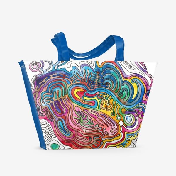 Пляжная сумка «Watercolor Doodle»