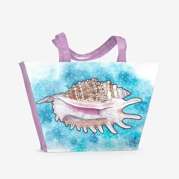 Пляжная сумка «Морская ракушка»