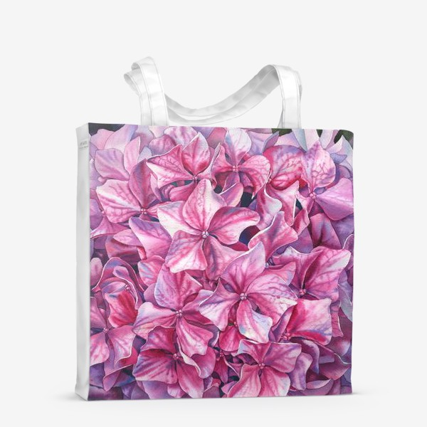 Сумка-шоппер «In my garden. Pink hydrangea.»