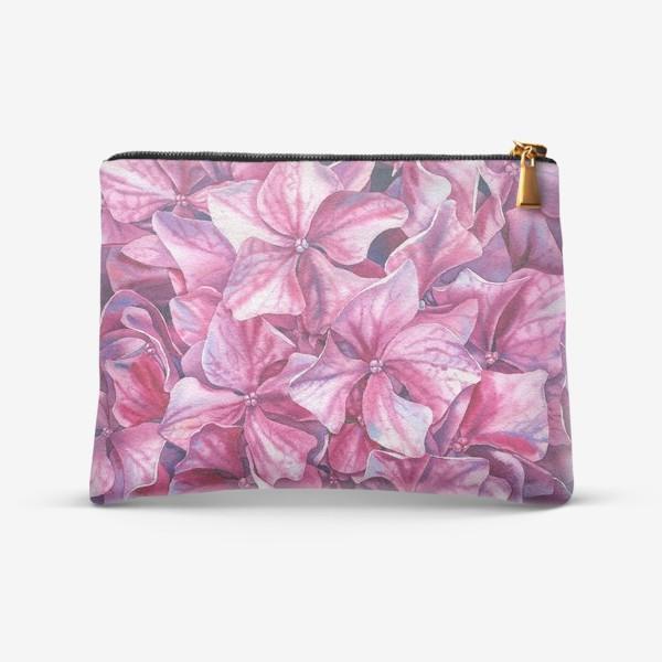 Косметичка «In my garden. Pink hydrangea.»