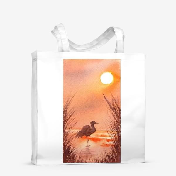 Сумка-шоппер «Птица на закате»