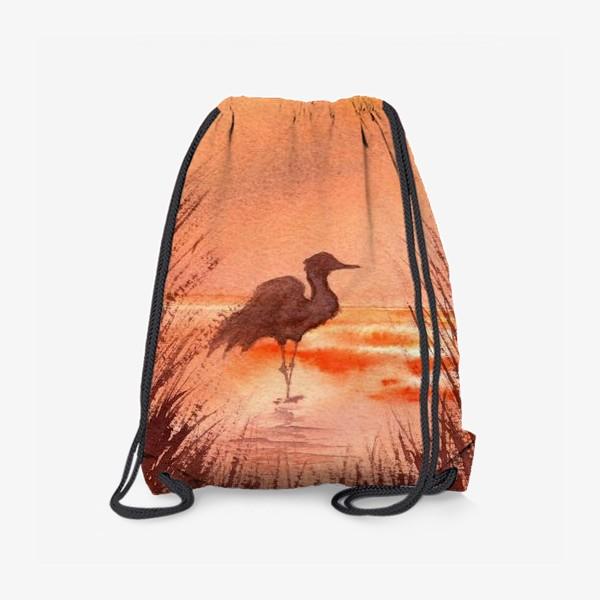 Рюкзак «Птица на закате»