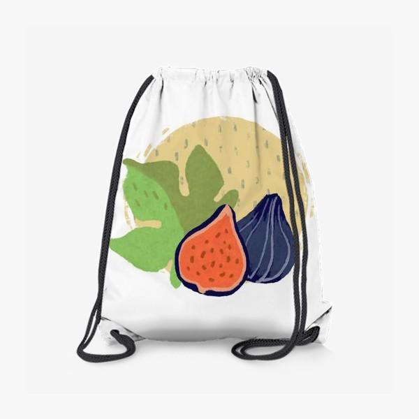 Рюкзак «Инжир на фоне круга и дождя»