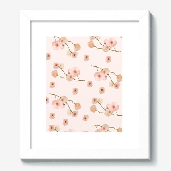 Картина «Паттерн цветы сакуры на розовом»