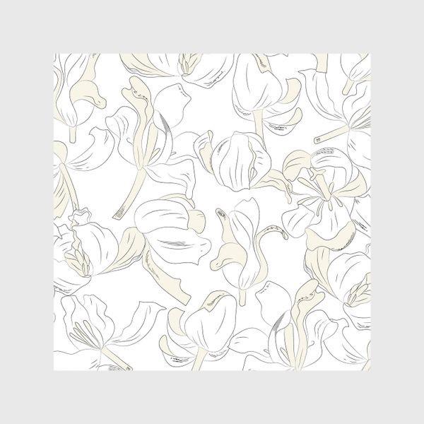 Шторы «тюльпаны абстрактный модерн»