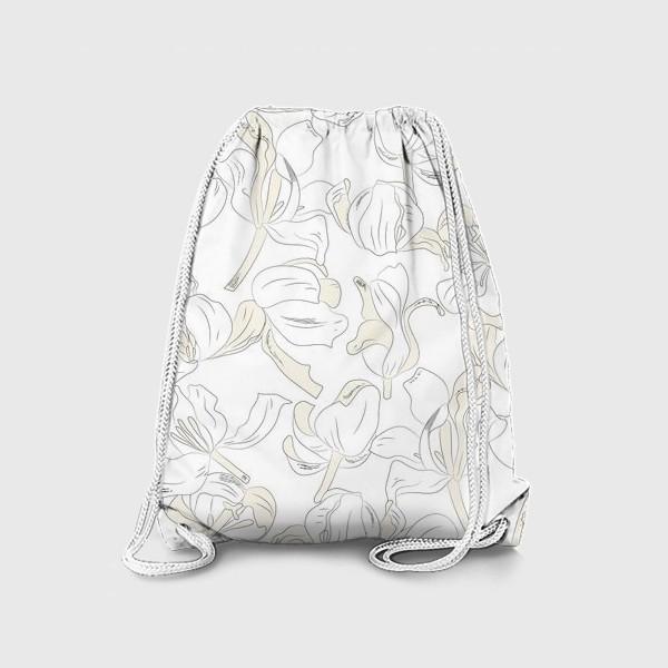 Рюкзак «тюльпаны абстрактный модерн»