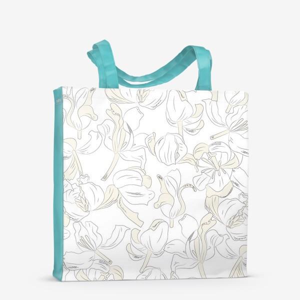 Сумка-шоппер «тюльпаны абстрактный модерн»