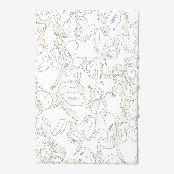 Полотенце «тюльпаны абстрактный модерн»