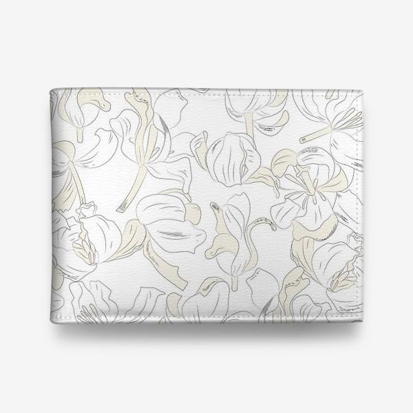 Кошелек «тюльпаны абстрактный модерн»