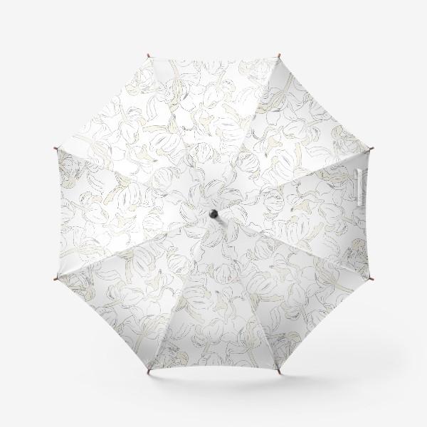 Зонт «тюльпаны абстрактный модерн»
