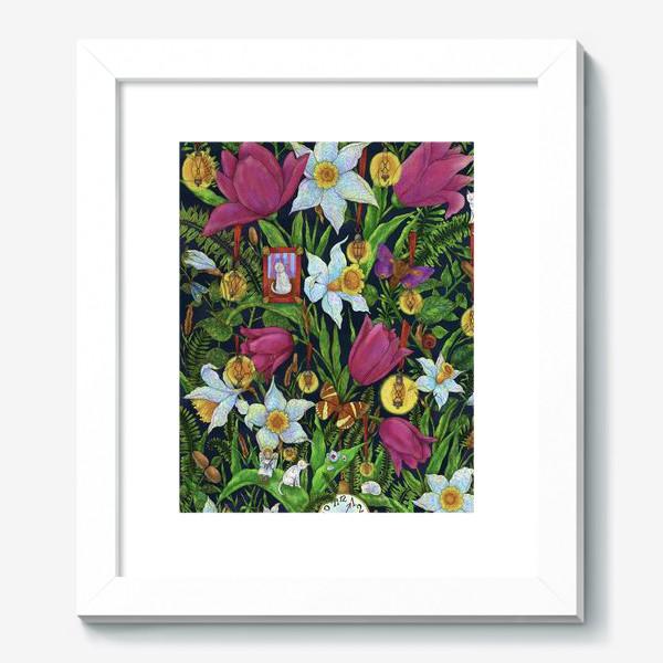 Картина «Старая сказка в саду с тюльпанами и нарциссами»