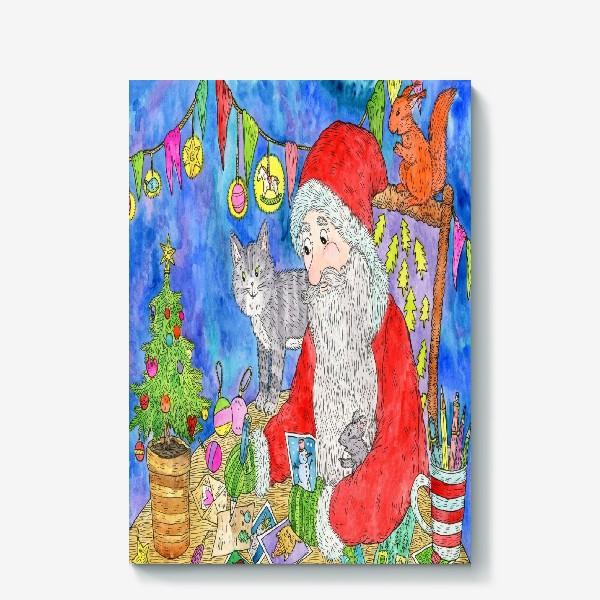 Холст «Письмо от Деда Мороза»