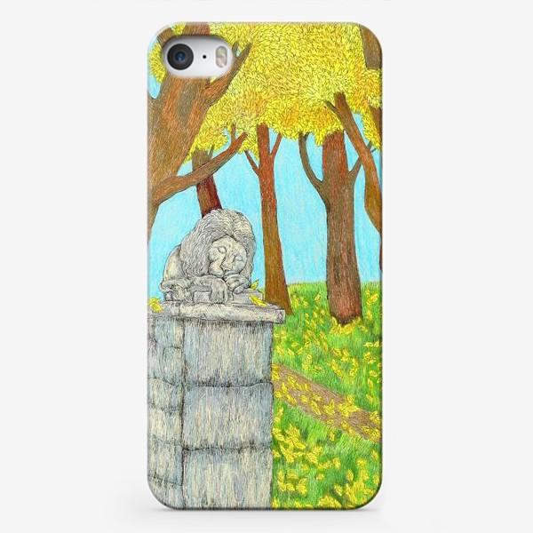 Чехол iPhone «Осенний пейзаж в парке»