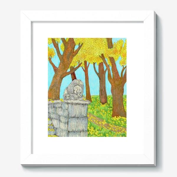 Картина «Осенний пейзаж в парке»