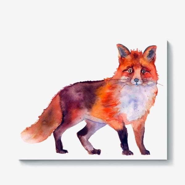 Холст «рыжая лиса»