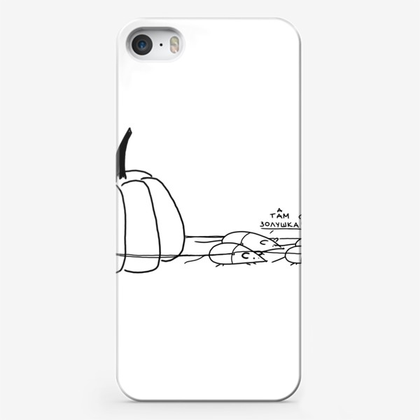 Чехол iPhone «Сказочная тыква с мышами. Золушка»