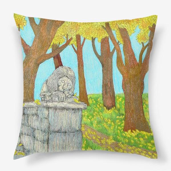 Подушка «Осенний пейзаж в парке»