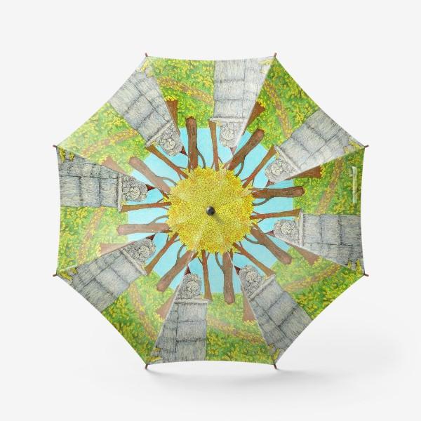 Зонт «Осенний пейзаж в парке»
