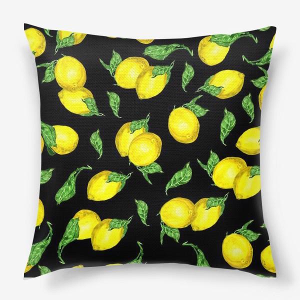 Подушка «лимончики»