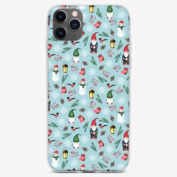 Чехол iPhone «Зимние гномы »