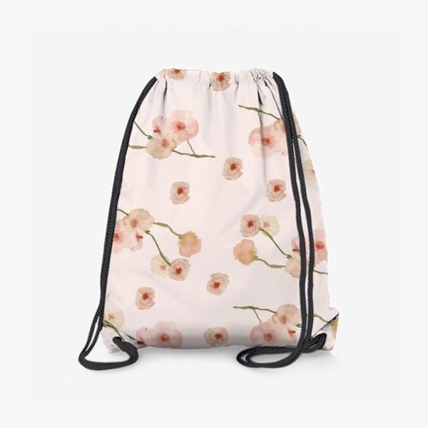 Рюкзак «Паттерн цветы сакуры на розовом»