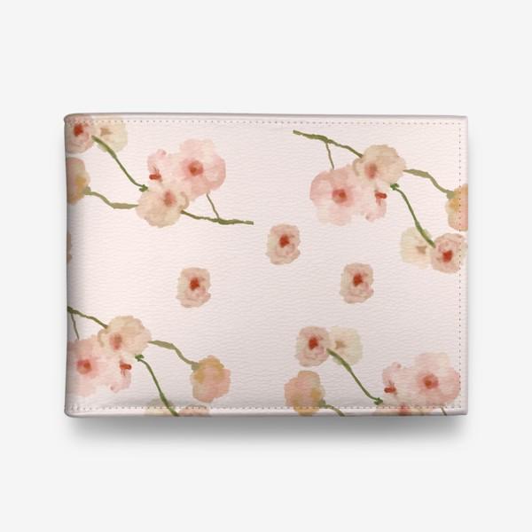 Кошелек «Паттерн цветы сакуры на розовом»