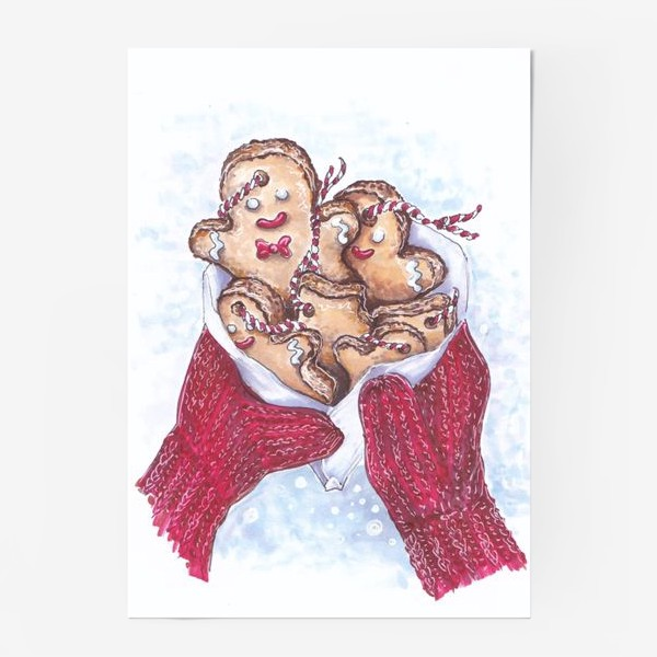 Постер «зимний букет»