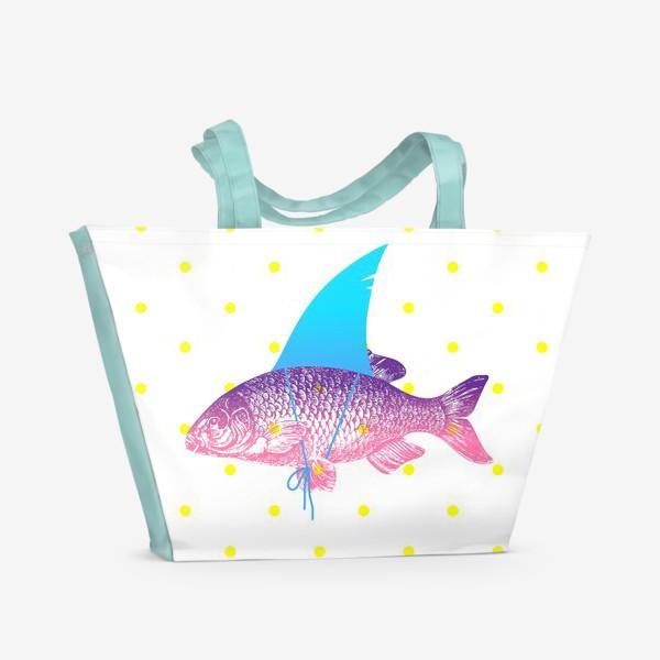 Пляжная сумка «рыба с акульим плавником. Хышник. »