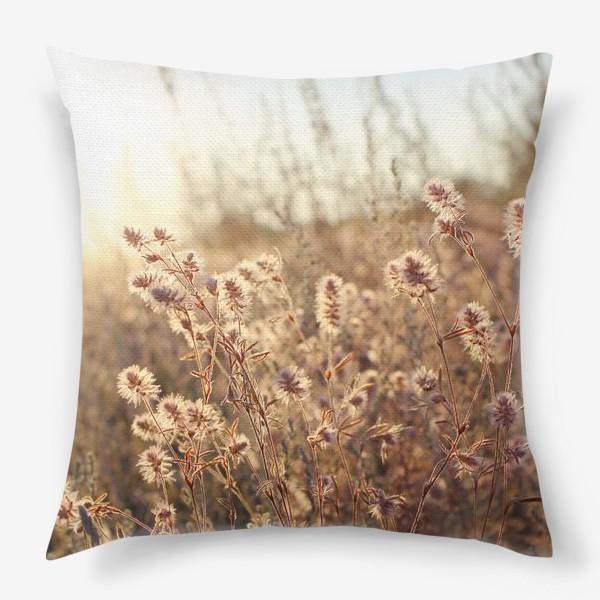 Подушка «В поле на закате»