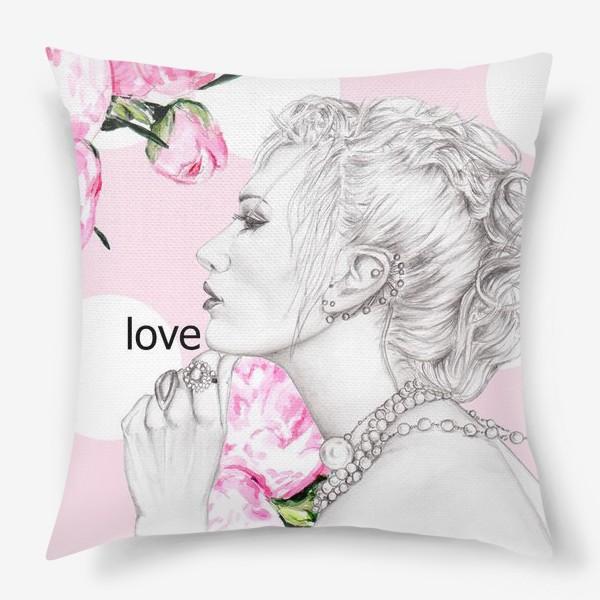 Подушка «Девушка с жемчугом»
