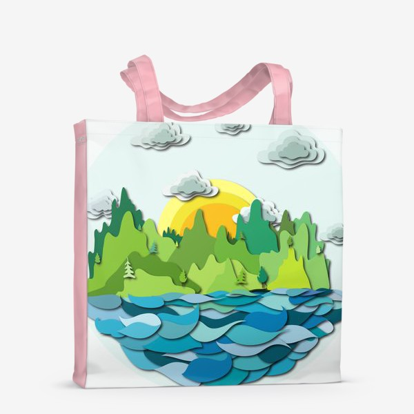 Сумка-шоппер «Горы, море, облака»