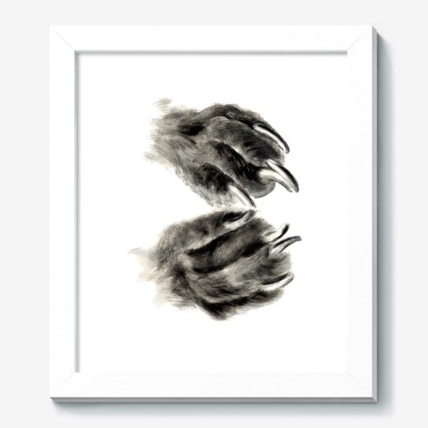 Картина «Лапы с когтями кошка или собака»