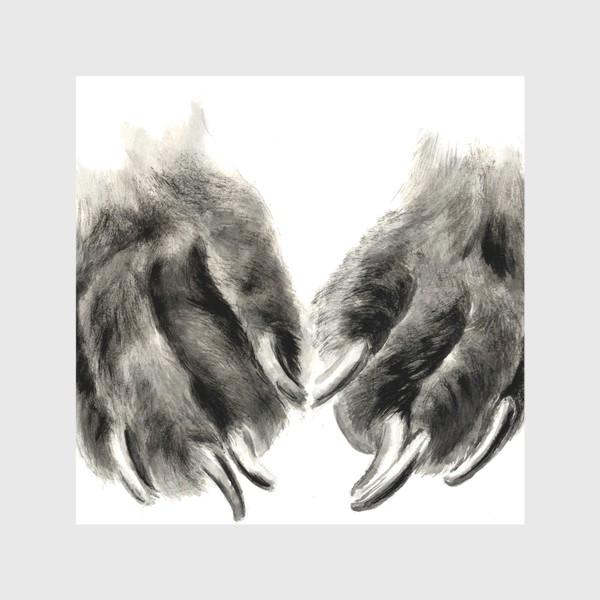Скатерть «Лапы с когтями кошка или собака»