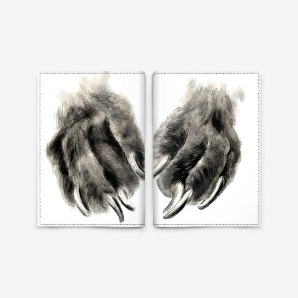 Обложка для паспорта «Лапы с когтями кошка или собака»