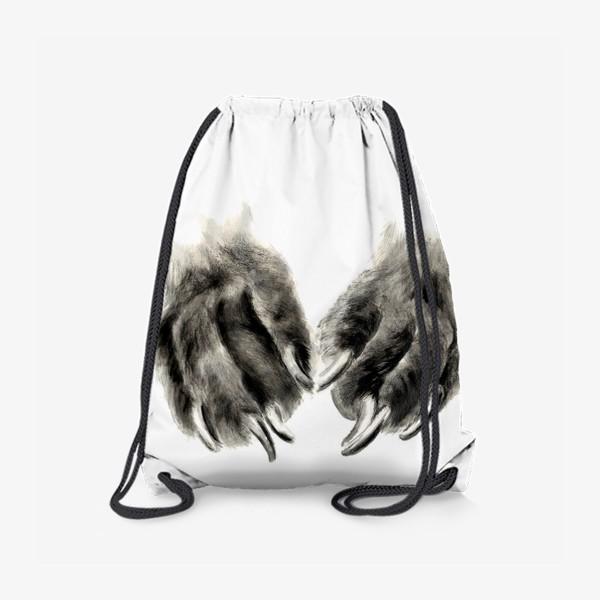 Рюкзак «Лапы с когтями кошка или собака»