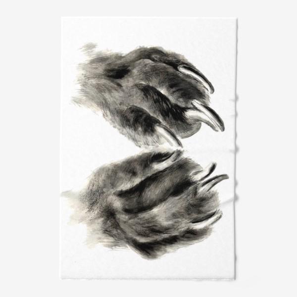 Полотенце «Лапы с когтями кошка или собака»