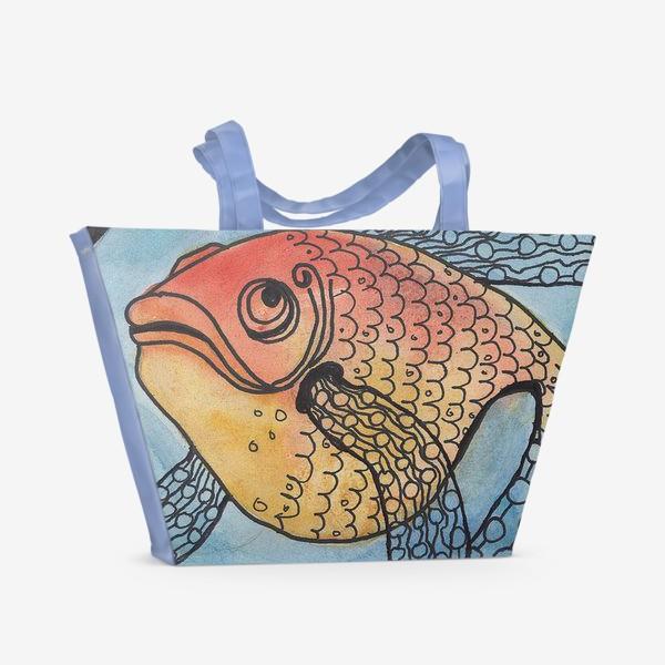 Пляжная сумка «золотая рыбка»
