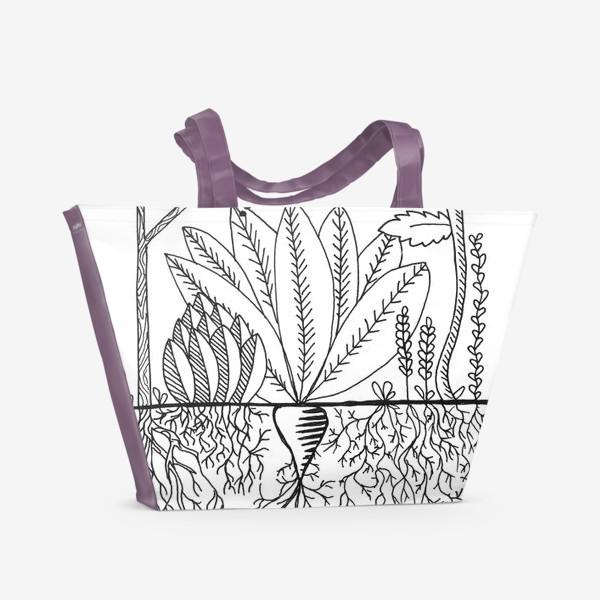 Пляжная сумка «чудесный сад»