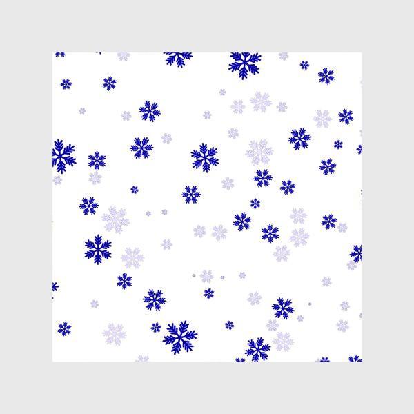 Шторы «снежинки на белом»