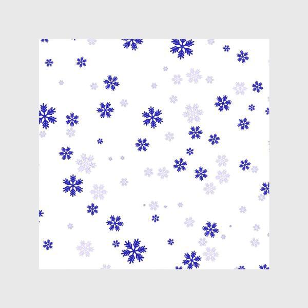 Скатерть «снежинки на белом»
