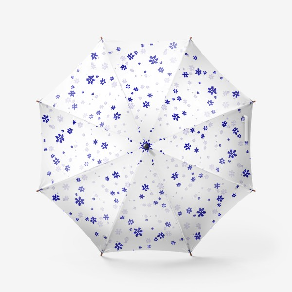 Зонт «снежинки на белом»