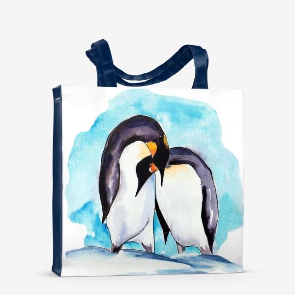 Сумка-шоппер «Влюбленные пингвины»