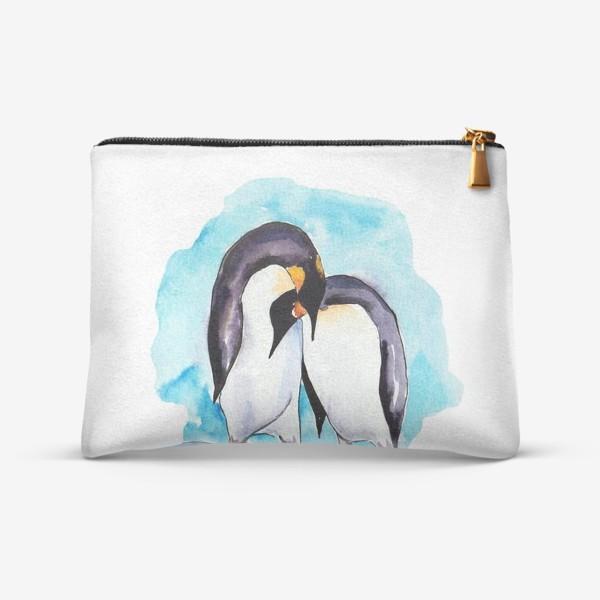Косметичка «Влюбленные пингвины»