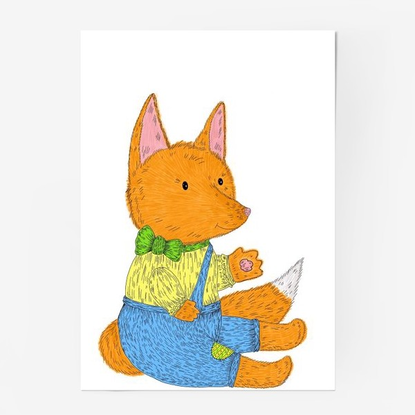 Постер «Милый лисенок»